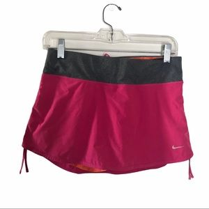 Nike Pink Built-in Shorts Workout Skirt Sml